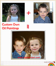Custom Oil Paintings From Photographs Your Pictures Family Friends Baby Pet Photos Favorite Images Custom Handmade Oil Paintings