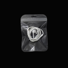 100Pcs 10.5*15cm Reclosable Clear Plastic Zip Lock Gift Jewelry Pouches Grip Seal Flat Grocery Package Hang Hole Bag