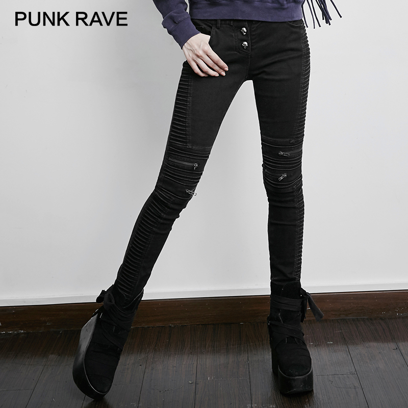 PUNK RAVE Steampunk Vintage Skinny Jeans