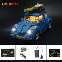LIGHTAILING Led Light Up Kit Para Volkswagen Beetle Modelo Building Block Set Luz Compatível Com 10252 E 21003