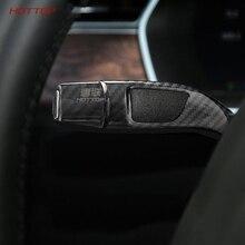 Auto di carbonio Cruise Tergicristallo Controllo Coperchio di Protezione di Protezione per Tesla Model S X 2016 2017 2018