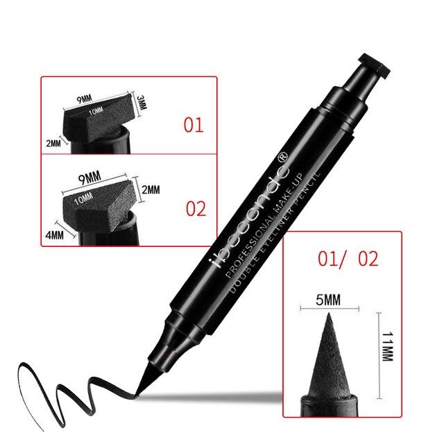 4 Style Eyeliner Stamp Pencil Black Liquid Makeup Waterproof Long-lasting Eye Liner Wing Stamps Eyes Liners Marker Pen Eyeliners 2