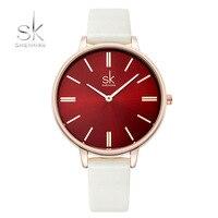 SK Woman Watches Luxury Brand Quartz Watches Ladies Watch Women Fashion Wristwatch Leather SimplGirl Watch Relogio