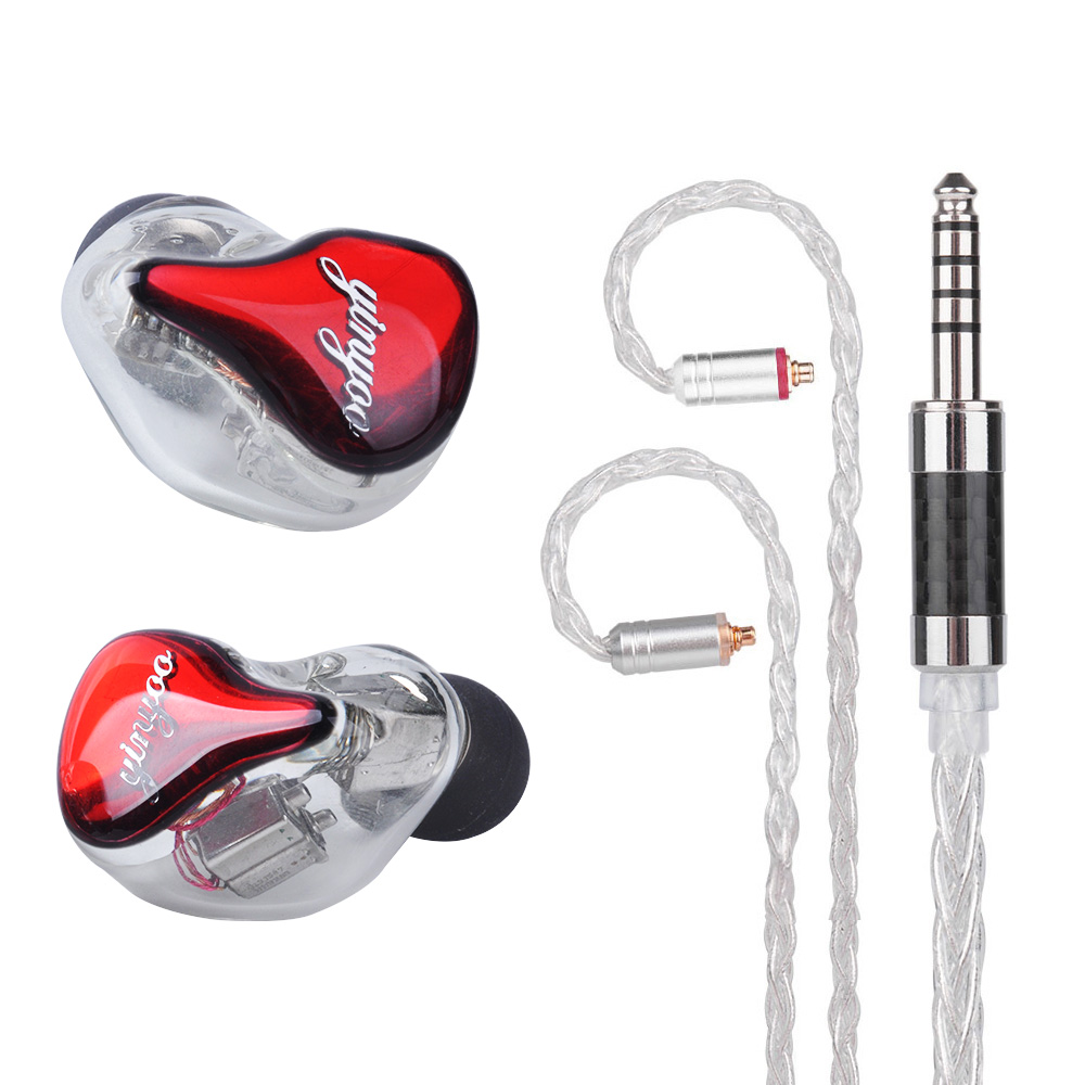 Yinyoo HQ10 10BA in Ear Earphone Custom Made Balanced Armature Around Ear Earphone Headset Earbuds With MMCX Same as QDC Shell цена