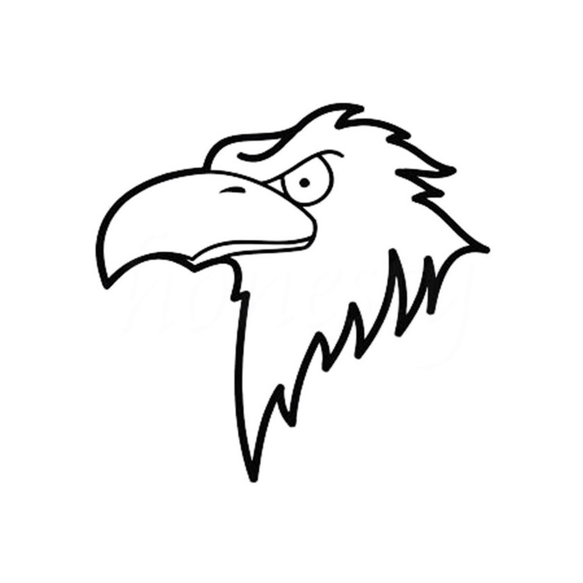 Cartoon Mighty Eagle Head Car Stickers Automotive Wall