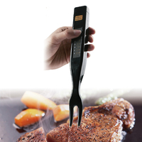Stainless Steel Fork BBQ Barbecue Meat Steak Thermometer