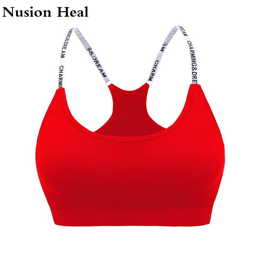 Women Sport Bras Top Female Mesh Hollow Yoga Bra Top Sport -4643