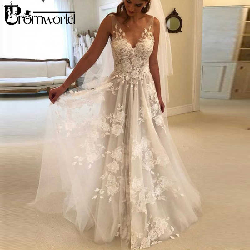 eabd5a17d2 Detail Feedback Questions about Beautiful Beach Wedding Dresses 2019 ...