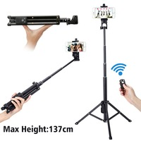 Ulanzi 3 In 1 Yunteng Selfie Stick Tripod Stand Super Light Weight Mini Bluetooth Remote Control