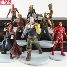 Hasbro Avengers 8pcs/set  Thanos Iron man Doctor Strange action figure display Model toys