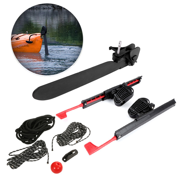 US $59 72 47% OFF|2Pcs Adjustable Locking Kayak Rudder Foot Brace Pedals  with Tail Rudder Kayak Accessories Foot Control Direction Steering  System-in