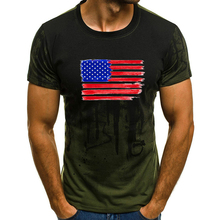 American Flag Hero Print Camouflage Short Sleeves T-Shirt Tops S-4XL