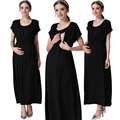 Emotion Moms Party Long Maternity Clothes for Pregnant Women nursing Dress Breastfeeding Dresses V-Neck Summer Pregnancy Dress