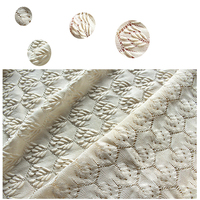 Knitted lace fabric soft autumn clothing fabric light yellow air bubble cloth foreign trade order