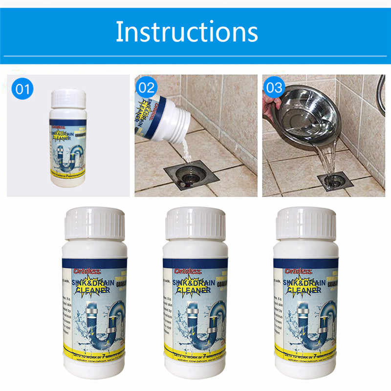 Multi-purpose fast foaming toilet cleaner kitchen sink and bathroom drain drain cleaner original