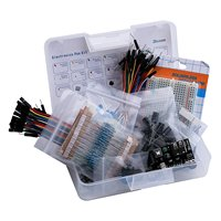 Elektronische DIY Kit Bundle mit Breadboard Kabel Widerstand, kondensator, LED, Potentiometer 235 Artikel für arduino