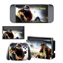 цены на Ghost Recon Wildland Decal Vinyl Skin Protector Sticker for Nintendo Switch NS Console +Controller +Stand Holder Protective Skin  в интернет-магазинах