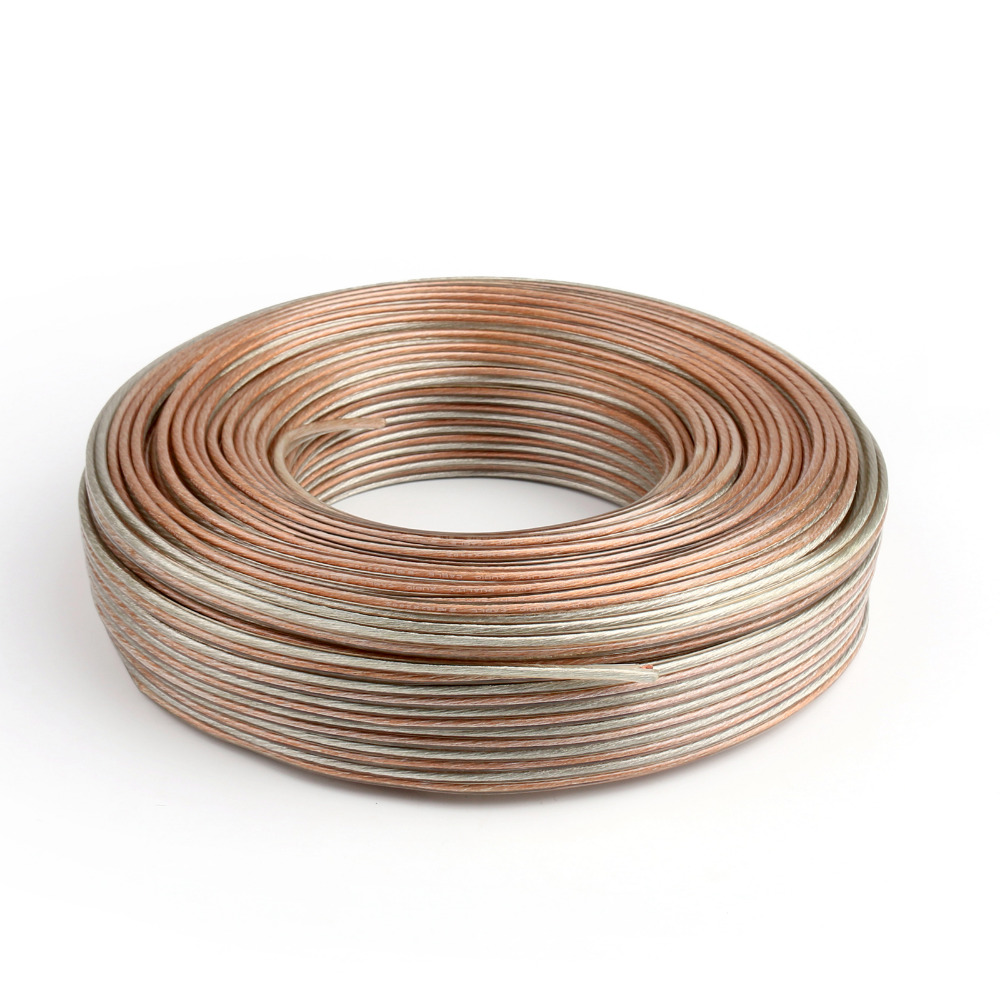 Twin Core Wire Copper Loud Speaker Cable Oxygen Free Quality 10//20//50//100M Wires