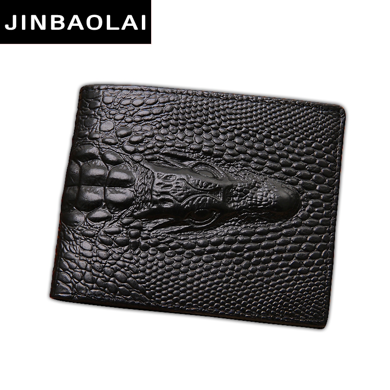 JINBAOLAI Luxury Cow Leather Men Short Wallet Casual Genuine Leather Male Wallet Purse Standard Card Holders Wallets For Men hxt 2028 stylish in ear nylon cable earphones w microphone for samsung iphone xiaomi
