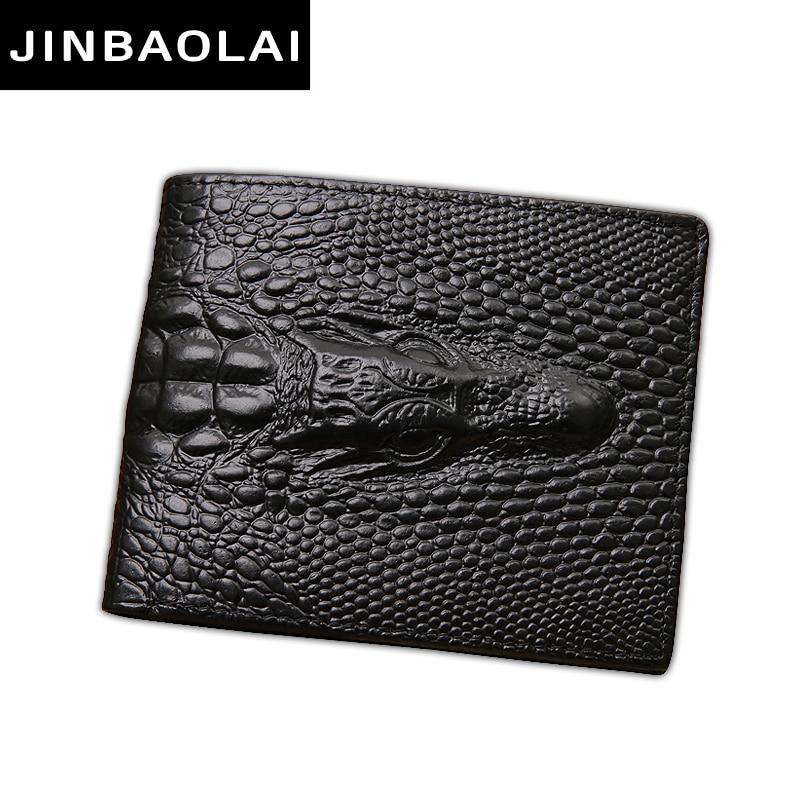 JINBAOLAI Luxury Cow Leather Men Short Wallet Casual Genuine Leather Male Wallet Purse Standard Card Holders Wallets For Men nixon часы nixon a243 100 коллекция corporal