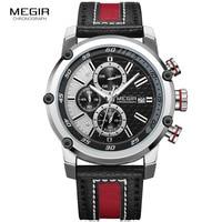 Herren Schwarz Rot Sport Quarz Handgelenk Uhren Chronograph Uhr Marine Stop Uhr Mann Relogios Masculino Armee Military 2079GBK-1