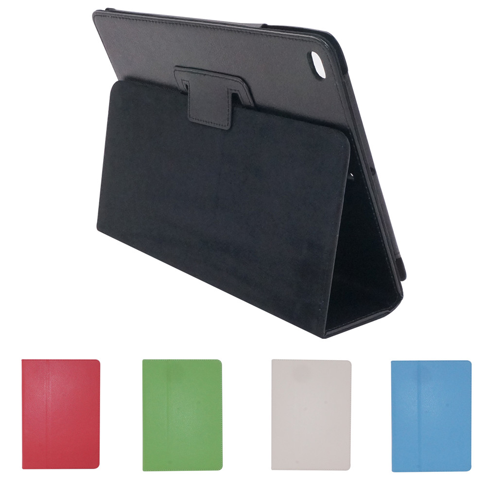 2 Section Foldable Litchi Pattern Protective Case for iPad Mini 1 2 3 iPad 2 3 4