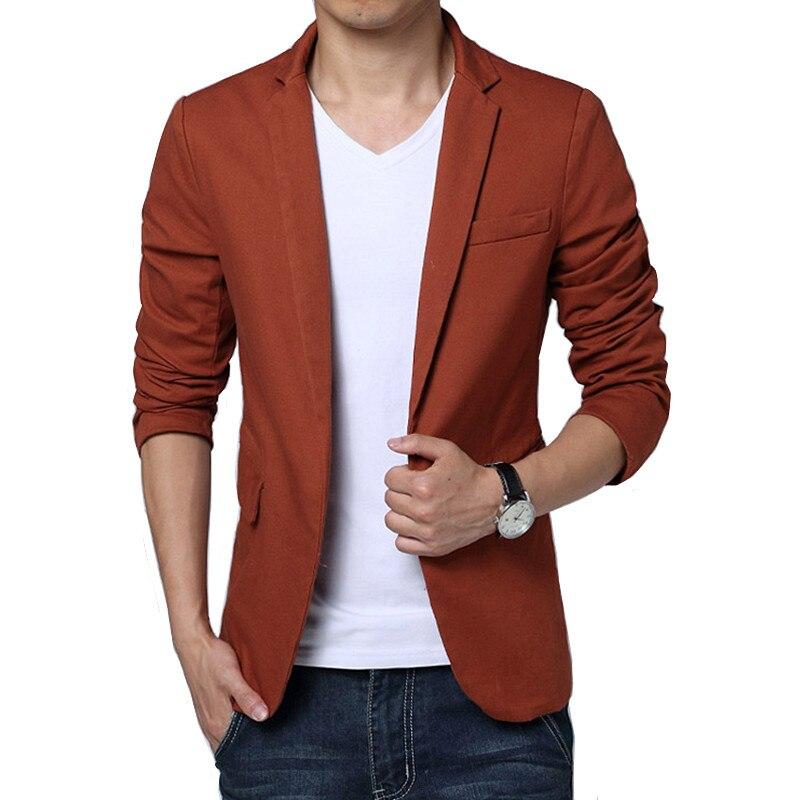 Пиджак мужской весенне-осенний повседневный костюм сплошной цвет Тонкий Блейзер высокого качества тренд мужской пиджак 2019 Новинка
