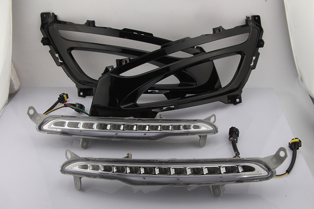 Car Flashing 1Pair DRL For KIA Optima K5 2011 2012 2013 2014 Daytime Running Lights Fog head Lamp cover car styling