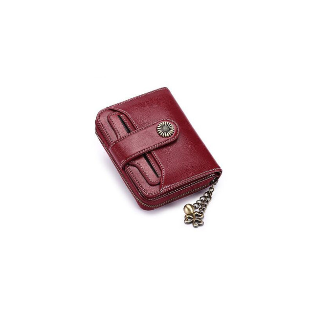 MaDonNo Women's Leather Wallet Fashion Zipper Standard Wallets Coin Purse High Quality Female Short Classic Wallet