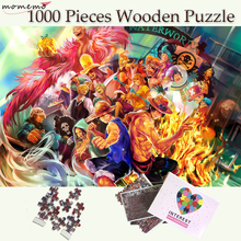 MOMEMO One Piece Wooden 1000 Pieces Puzzles Exquisite Jigsaw Puzzle for Adults Cartoon Pattern Puzzle Games Kids Educational Toy puzzle therapist one a day sudoku for the utterly obsessed large print puzzles for adults