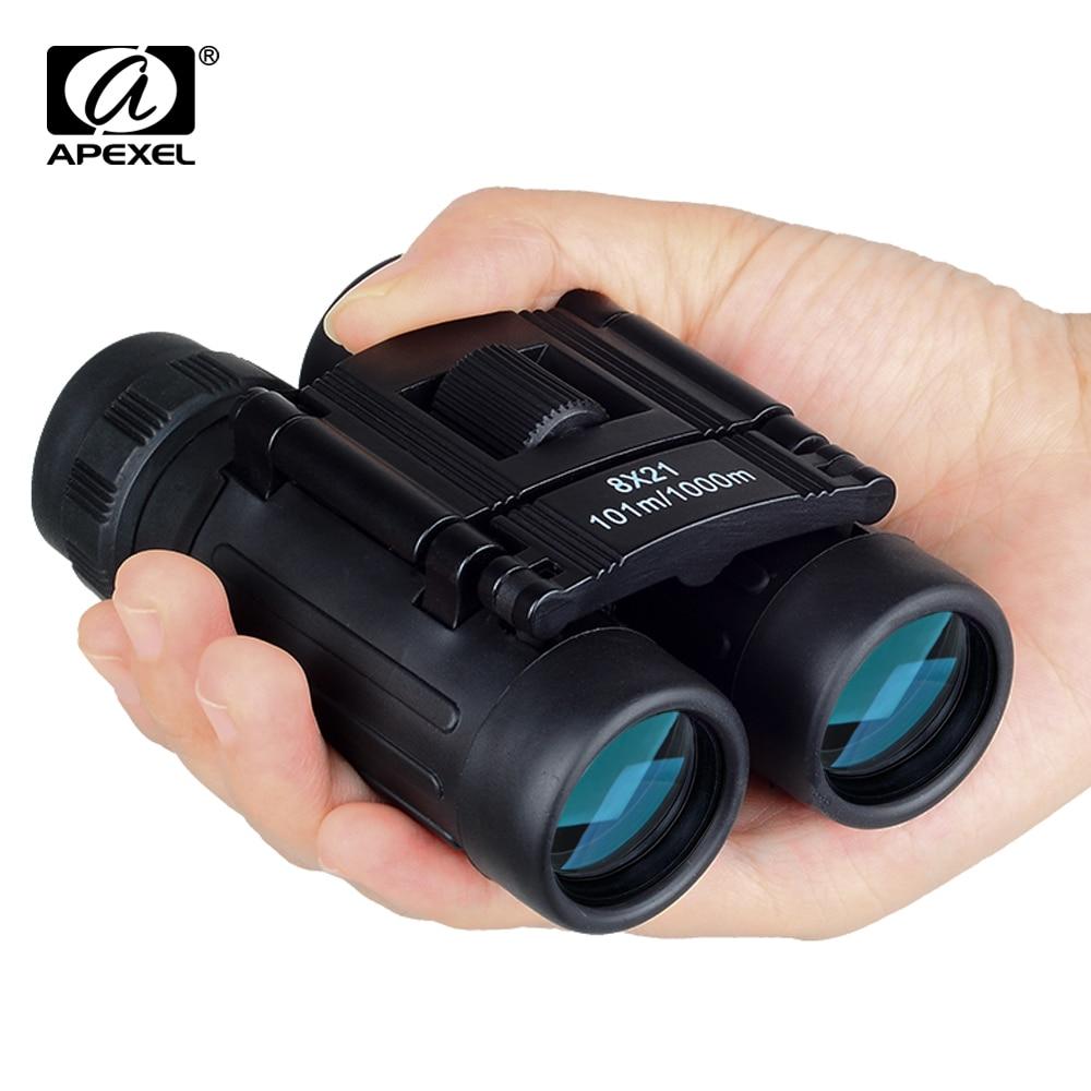 APEXEL 8x21 Zoom Mini Folding Pocket Binoculars 8x Telescope Portable BinocularOutdoor Birdwatching Travel Hunting Hiking Sports