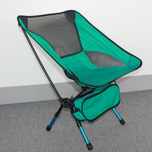 Us 29 85 New Lightweight Folding Chair Heavy Duty Aluminum Alloy Stool Seat For Camping Hiking Fishing Garden Bbq With Carry Bag In Beach Chairs