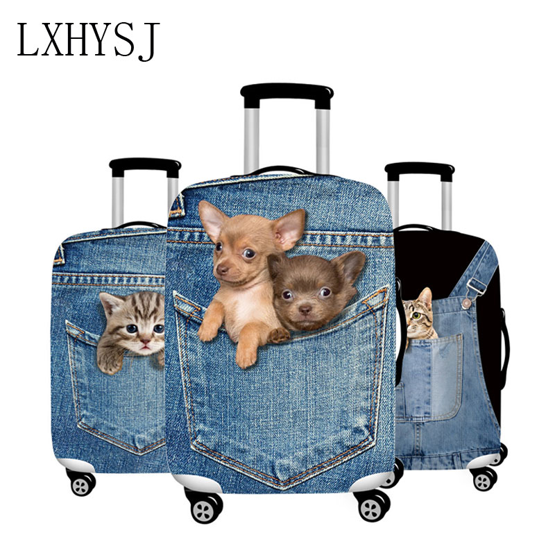 LXHYSJ Elastic 3D Animal Pattern Luggage Protection Cover Trolley Suitcase Dust Cover Suitable For 18-32 Inch Suitcase