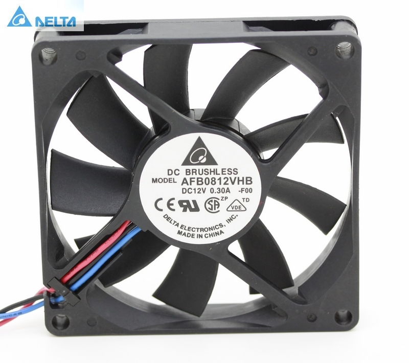For for delta 8015 AFB0812VHB 8cm <font><b>80X80X15</b></font> mm 80MM 8*8*1.5CM 12v 0.30a cpu computer case cooling <font><b>fan</b></font> double ball image
