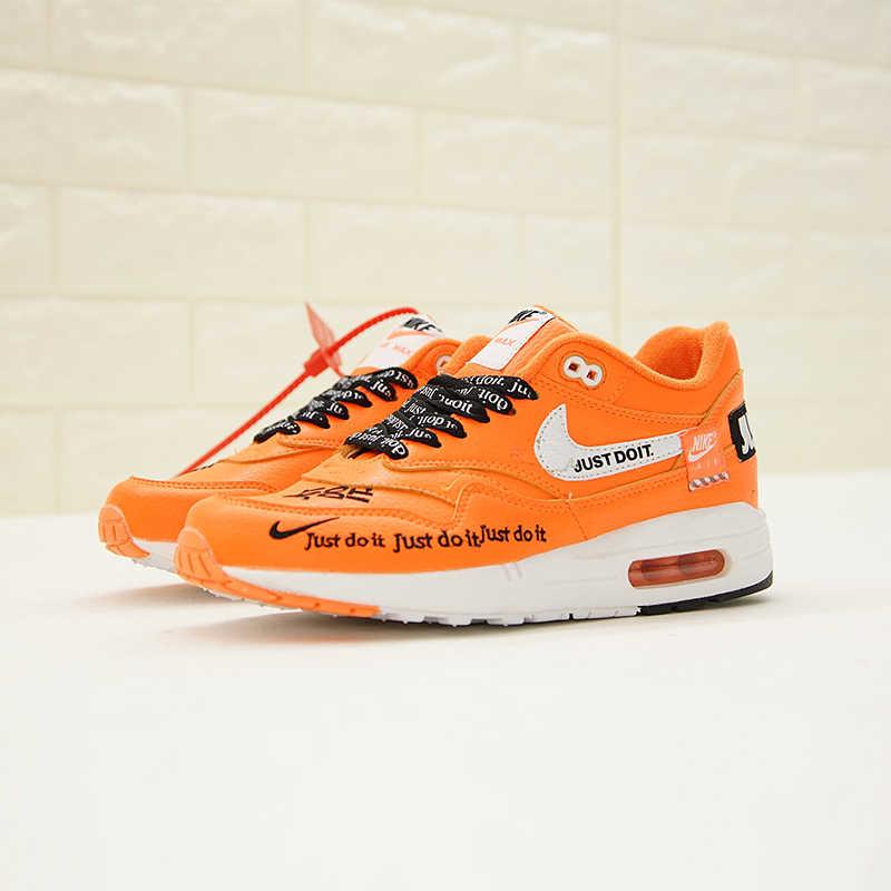 Nike air max zero qs 87 ow joint tênis de corrida masculino e feminino, laranja absorção de choque respirável resistente ao desgaste 917691 800