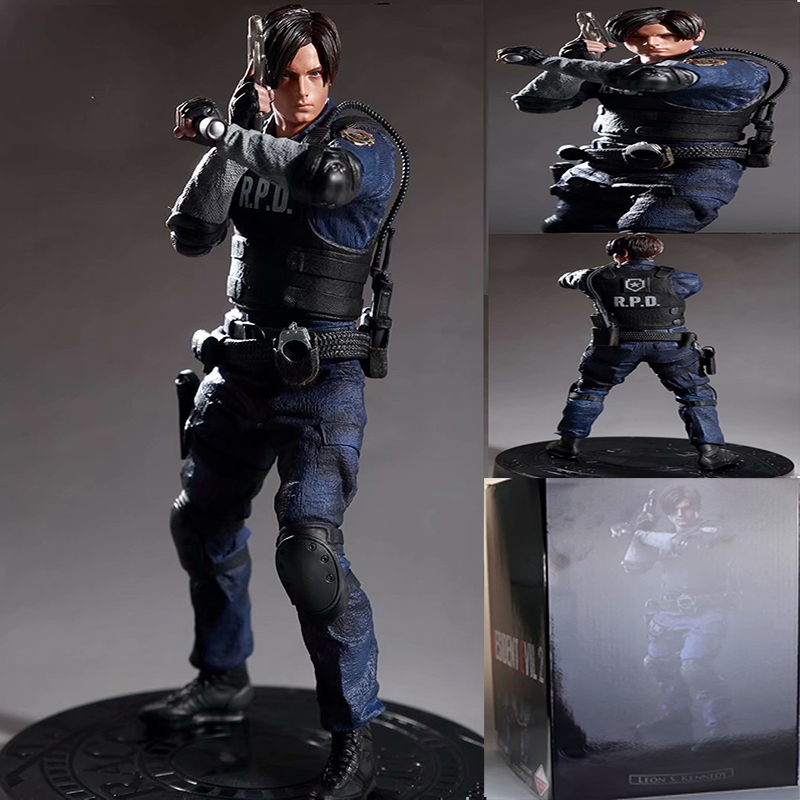 32cm Game Character Leon Scott Kennedy PVC Figure Collectible Model Toys Gift