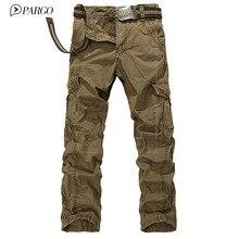 2016 neuheiten marke mens hosen mehrfach casual cargo pants baumwolle Lose herren Hosen military pant (keine gürtel) 8322