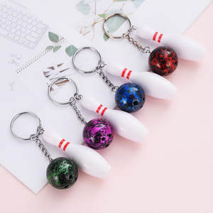 Keychain Souvenirs Bowling-Bag Advertisement Randomly Mini Fans Pendant Plastic School-Gifts