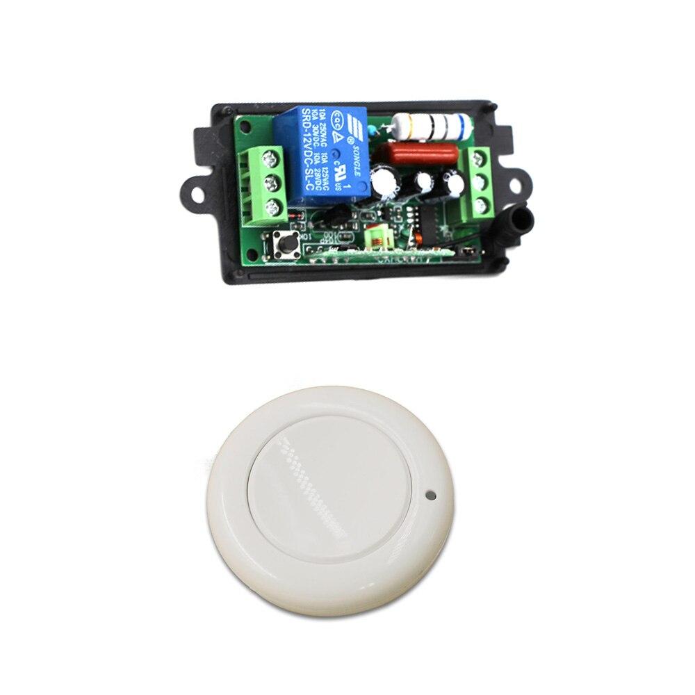 Nuevo AC220V 110 V 1CH de Control remoto inalámbrico interruptor de luz receptor de Radio y pared ronda transmisor 315/433 MHz