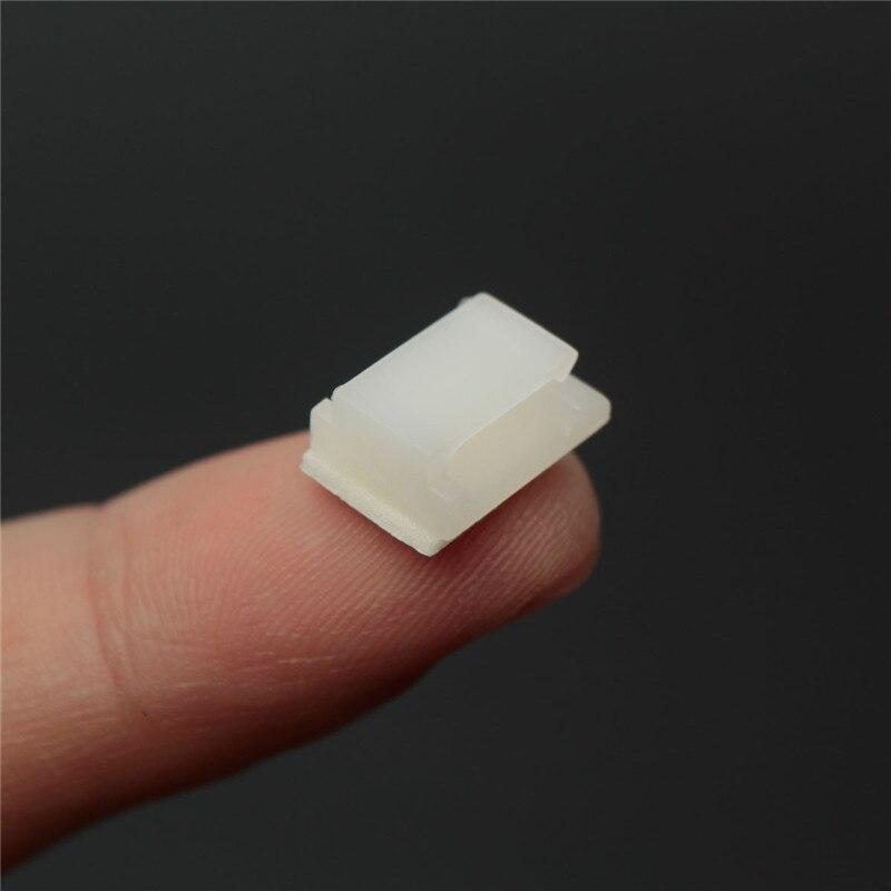 Новейшие электронные Пластиковые Клип Нейлон 30 шт. Пластиковые Самоклеящиеся Прямоугольник Провода Кабельные Zip Галстук Клип Горе Зажим Белый низкая Цена