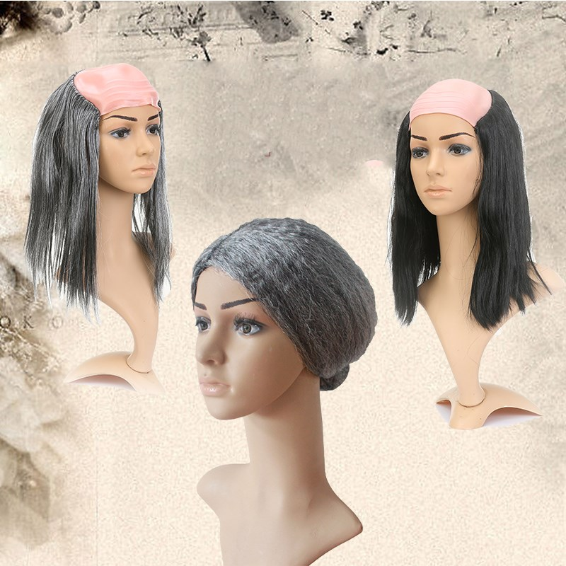 Online Shop Perlengkapan Pesta Halloween Alat Peraga Lucu Botak Wig Cosplay  Wanita Tua Palsu Peritoneum Kostum Bola Lucu The Pace Hiasan Kepala  2ef559f0d0