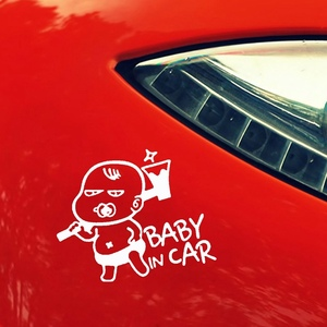 Image 5 - Car Styling Lovely Funny JDM Child Boys Baby In Car On Board Car Sticker For Window Bumper Camping Cute Vinyl Decal