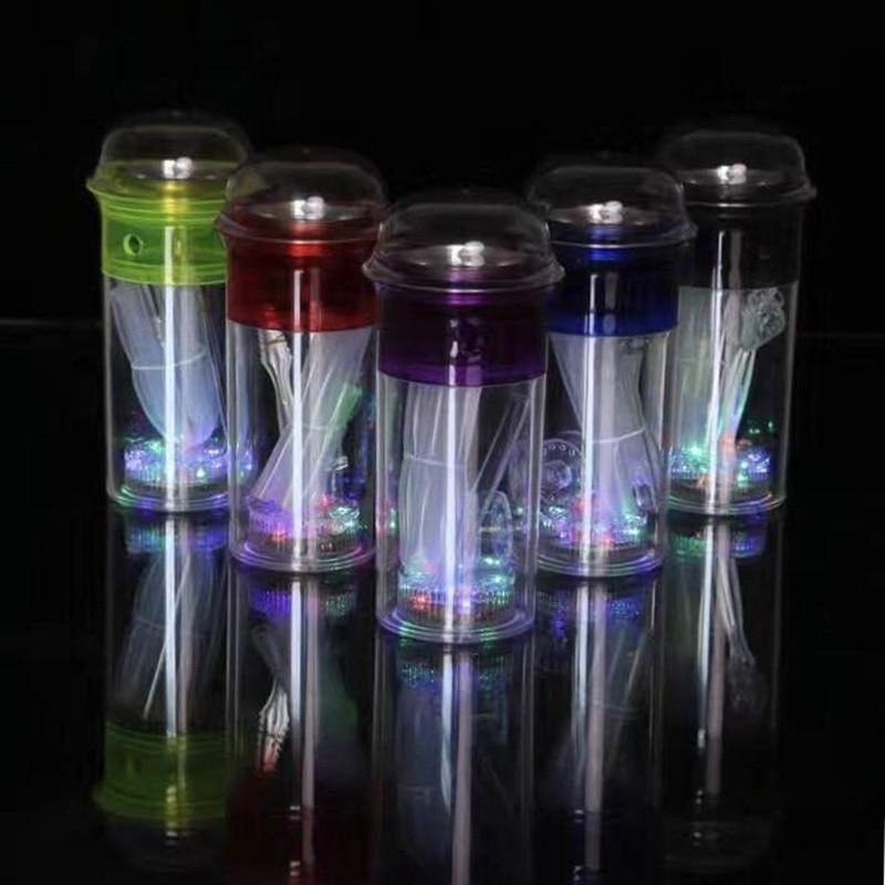 Adjustable LED Light Acrylic Plexiglass Hookah Cup Shisha Accessories Trumpet Hookah SYF007