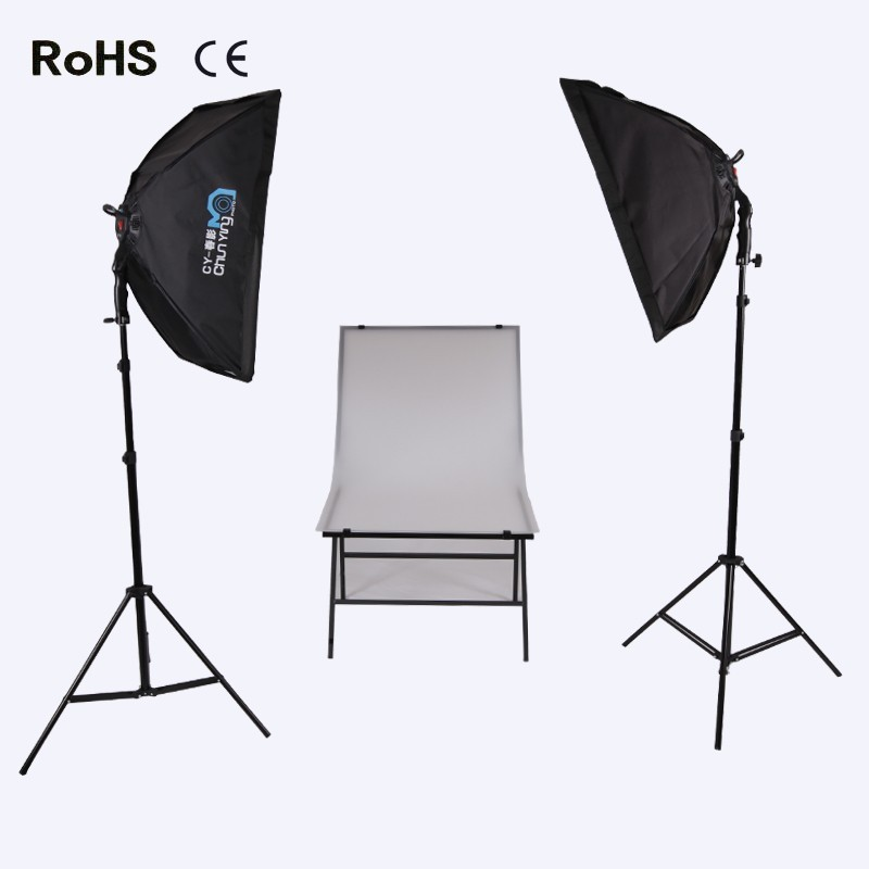 Photographic Equipment Photography Studio Set:30w led light&50cm*70cm Soft box&Photography Table For shooting goods photography lights studio light set photography light box suitcase photo box photographic equipment 50x50cm no00dc
