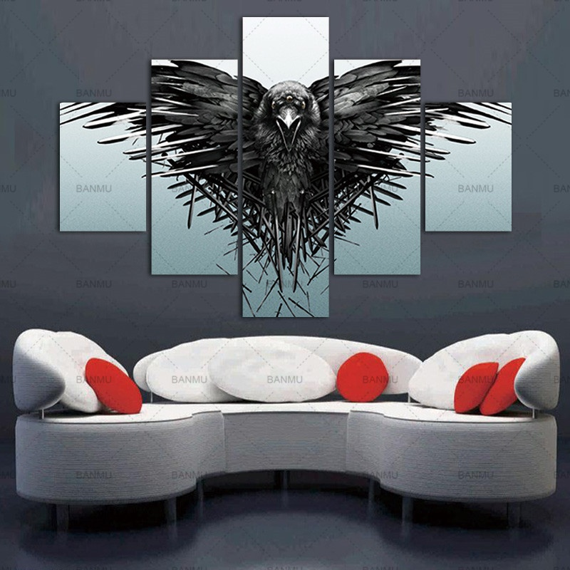 5 Pcs Game Of Thrones Home Decor Paintings Home Office