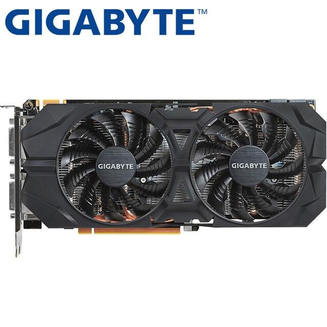 GIGABYTE Графика карты оригинальный GTX 960 2 GB 128Bit GDDR5 видео карты для nVIDIA видеокартами Geforce GTX960 используется 1050 TI 750