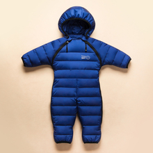 Fashion new 2016 New style infant baby winter thermal overalls brand warm feather jumpsuit baby girls