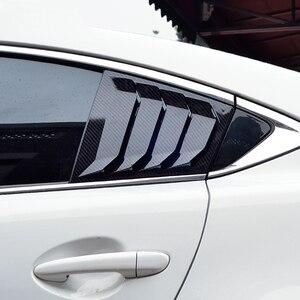 Image 2 - עבור מאזדה 6 ATENZA 2014 2015 2016 2017 2018 סיבי פחמן ABS אחורי חלון Hanlde משולש קערת כיסוי רכב סטיילינג אביזרי 2 pcs