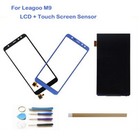 5.5 Inch For Leagoo M9 Separate LCD Display With Touch Screen Digitizer Blue Black Color With Tools Tape