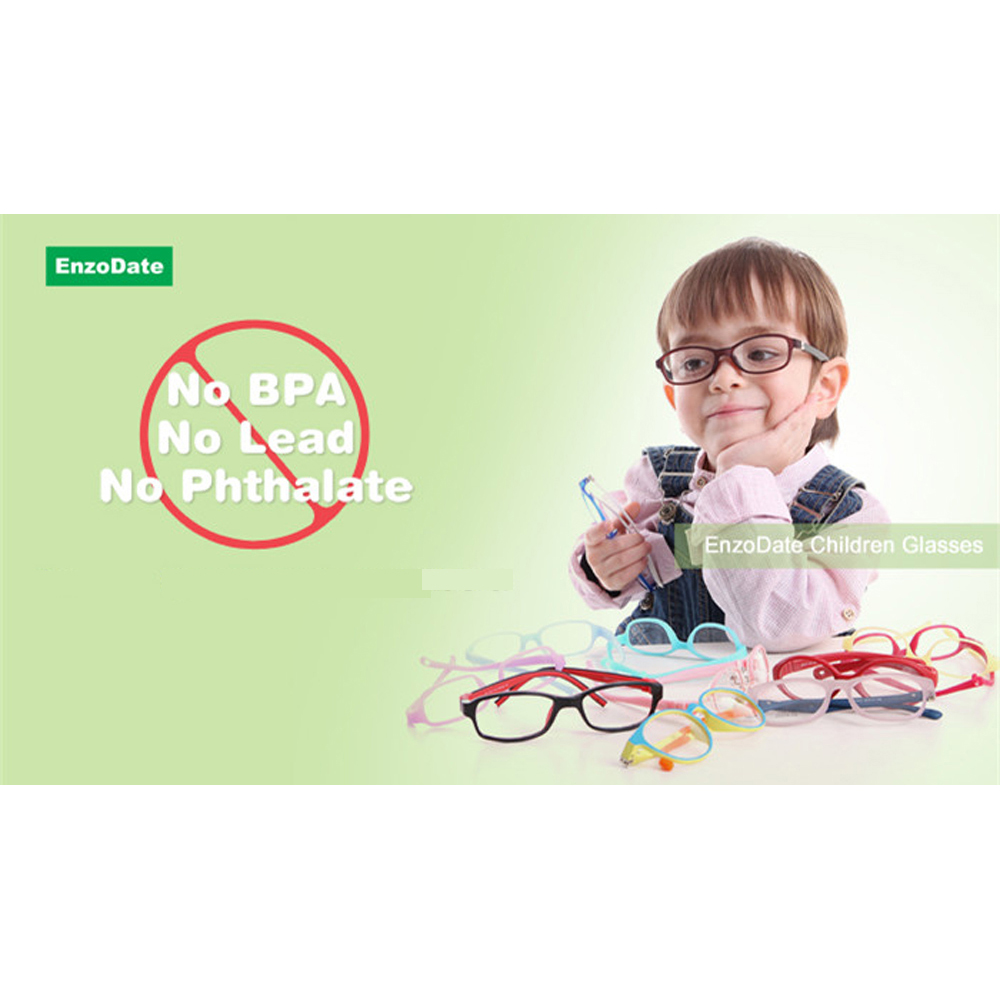 Image 4 - Silicone Glasses Frame Size 45mm No Screw Safe Flexible Optical Bendable Kids Eyeglasses Boys Girls-in Men's Eyewear Frames from Apparel Accessories